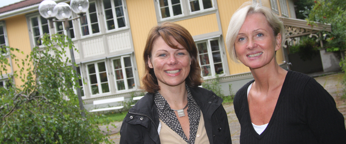 Kristin Tafjord Lærum og Bente Barstad