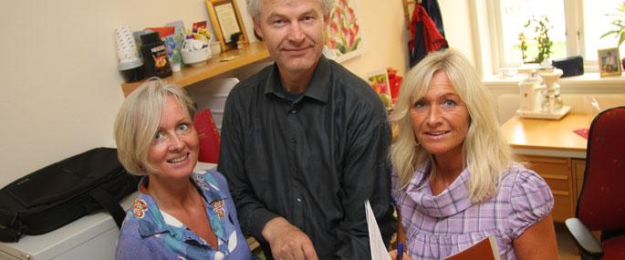 Bente Barstad, Terje Tilden og Hanne Sandbæk.