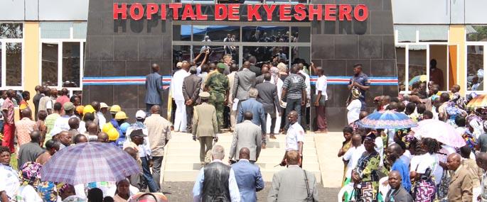 Inngangspartiet på sykehuset