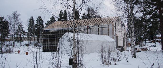 Kildehuset med utsikt mot sykehuset