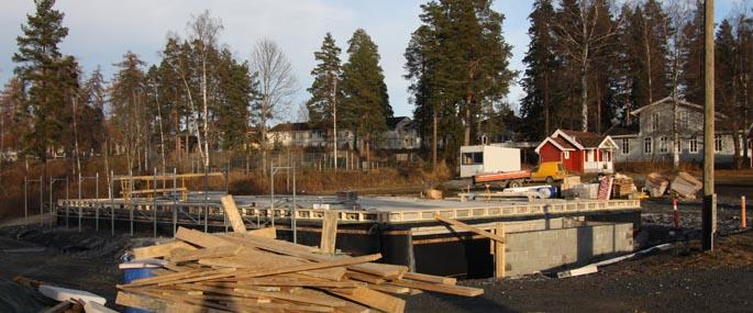 Fundamentet til Kildehuset november